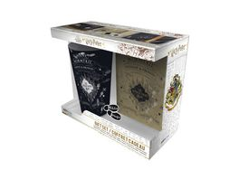 HARRY POTTER Geschenkset Glas 400ml Pin Pocket Notizbuch Marauder s Map