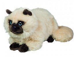 Teddy Hermann Plueschtier Siamkatze liegend 36 cm