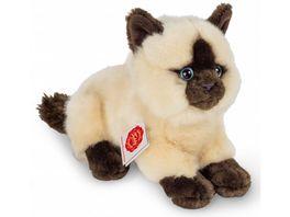 Teddy Hermann Plueschtier Siamkatze liegend 20 cm