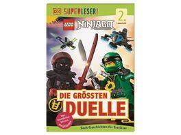 SUPERLESER LEGO NINJAGO Die groessten Duelle Sach Geschichten fuer Erstleser 2 Lesestufe