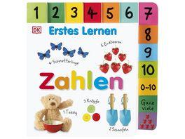 Erstes Lernen Zahlen Pappbilderbuch mit grossem Griff Register und ueber 120 Fotos ab 1 Jahr