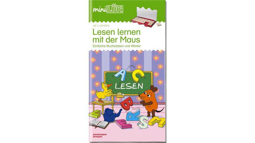 miniLÜK-Übungshefte / miniLÜK - Vorschule / Vorschule/1. Klasse - Deutsch: Lesen lernen mit der Maus