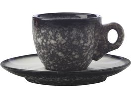 MAXWELL WILLIAMS CAVIAR GRANITE Espressotasse mit Untertasse