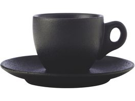 MAXWELL WILLIAMS CAVIAR BLACK Espressotasse mit Untertasse