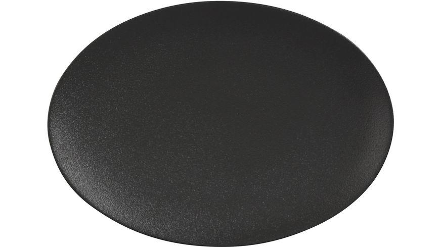 MAXWELL & WILLIAMS CAVIAR BLACK Platte oval, 30x22 cm