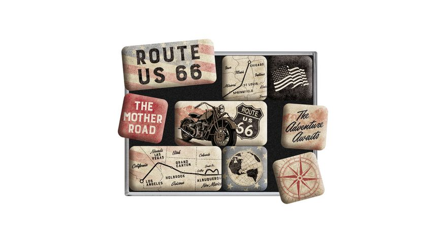 Nostlagic Art Magnet-Set Route 66