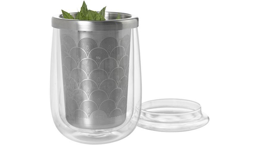 AdHoc Teeglas mit Teefilter FUSION GLASS 0 4 l