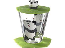 LEONARDO Kindertrinkset Bambini Panda 3 teilig