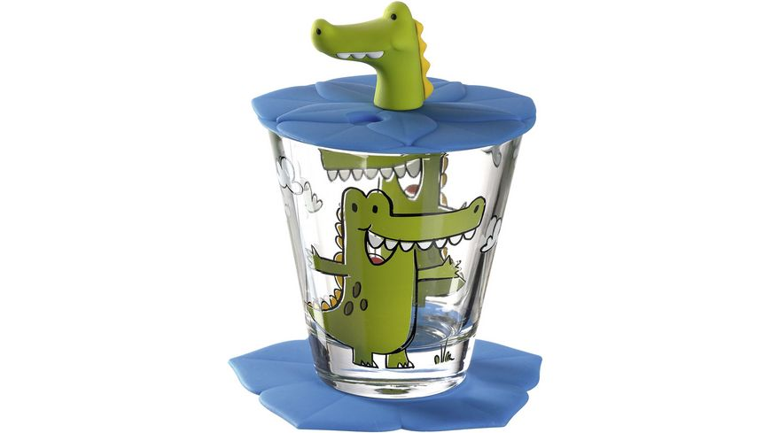 LEONARDO Kindertrinkset Bambini Krokodil 3 teilig