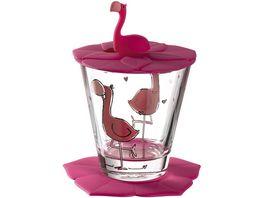 LEONARDO Kindertrinkset Bambini Flamingo 3 teilig