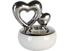 Casablanca Teelichtleuchter Hearts 18 cm
