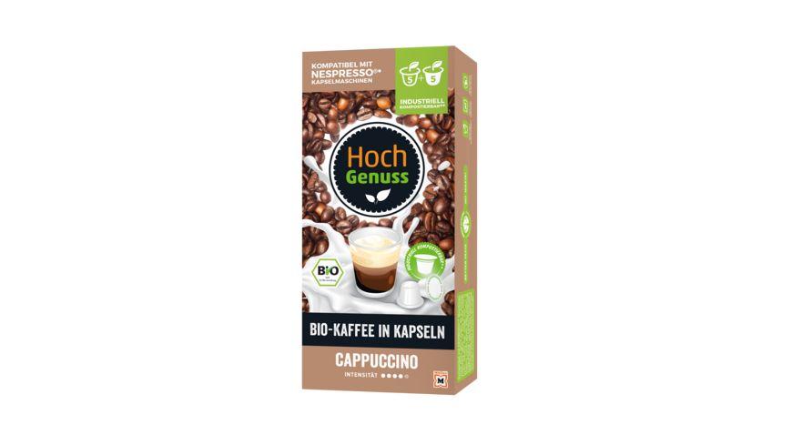 Hochgenuss Bio Kaffee in Kapseln Cappuccino