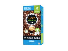 Hochgenuss Bio Kaffee in Kapseln Lungo