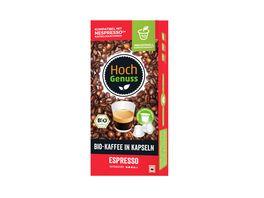 Hochgenuss Bio Kaffee in Kapseln Espresso