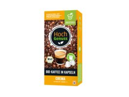 Hochgenuss Bio Kaffee in Kapseln Crema