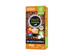 Hochgenuss Bio Kaffee in Kapseln Crema Vitamine Mineralien