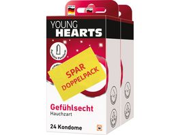 YOUNG HEARTS Kondome Gefuehlsecht Spar Doppelpack