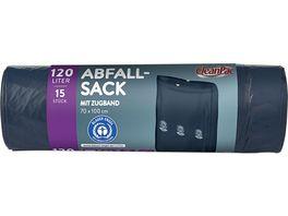 CleanPac Abfallsack mit Zugband 120 Liter