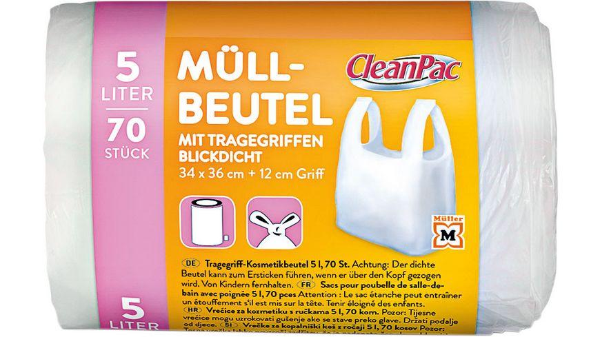 CleanPac Tragegriff-Kosmetikbeutel 5 Liter