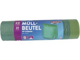 CleanPac Muellbeutel mit Zugband 60 Liter