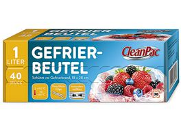 CleanPac Gefrierbeutel 40x1L