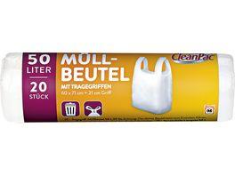 CleanPac Muellbeutel mit Tragegriffen 20x50L