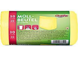 CleanPac Muellbeutel mit Zugband und Limettenduft 30 Liter