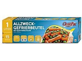 Clean Pac Allzweck Gefrierbeutel mit Gleitverschluss 15x1L