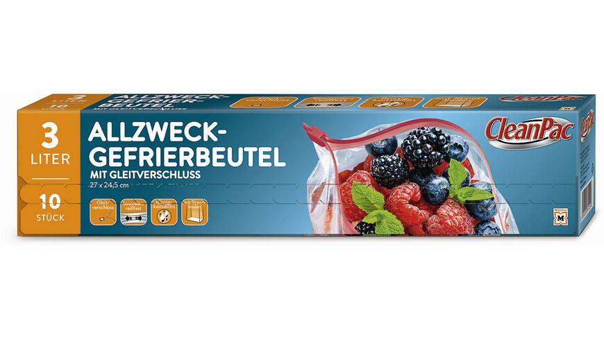 CleanPac Allzweck Gefrierbeutel mit Gleitverschluss 10x3L