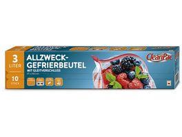 Clean Pac Allzweck Gefrierbeutel mit Gleitverschluss 10x3L