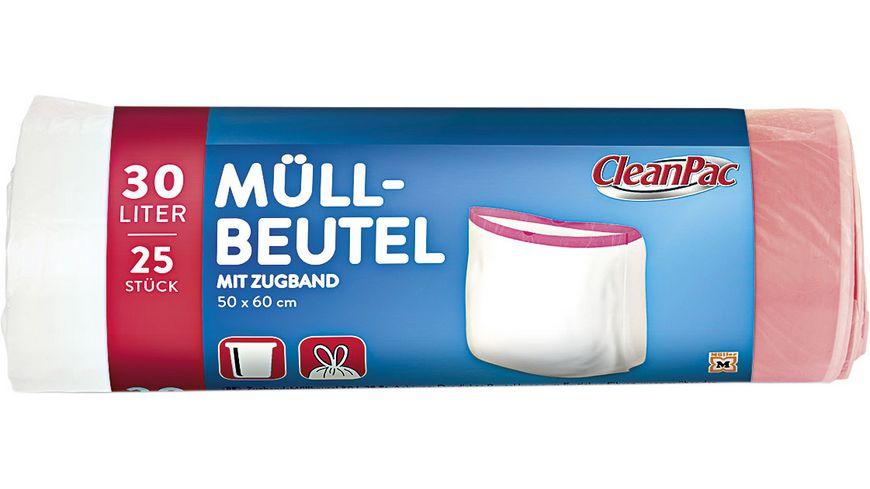 Clean Pac Muellbeutel mit Zugband 25x30L