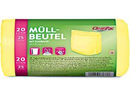 CleanPac Muellbeutel mit Zugband und Limettenduft 20 Liter