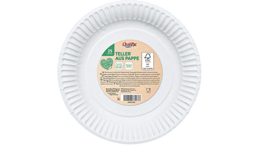 CleanPac Pappteller 23 cm