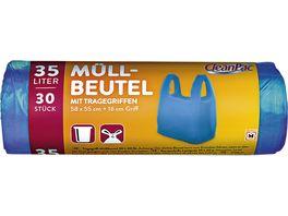 CleanPac Muellbeutel mit Tragegriffen 30x35L