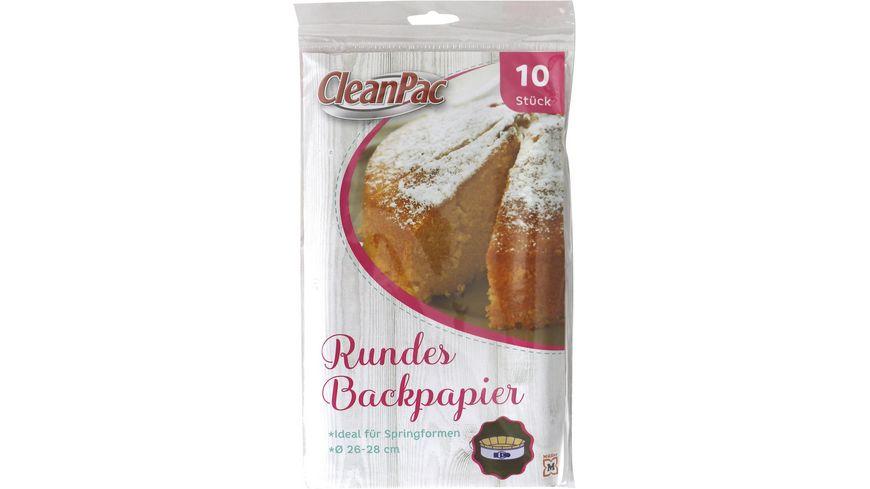 CleanPac Backpapier Zuschnitte rund