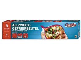 CleanPac Allzweck Gefrierbeutel mit Gleitverschluss 6x5L