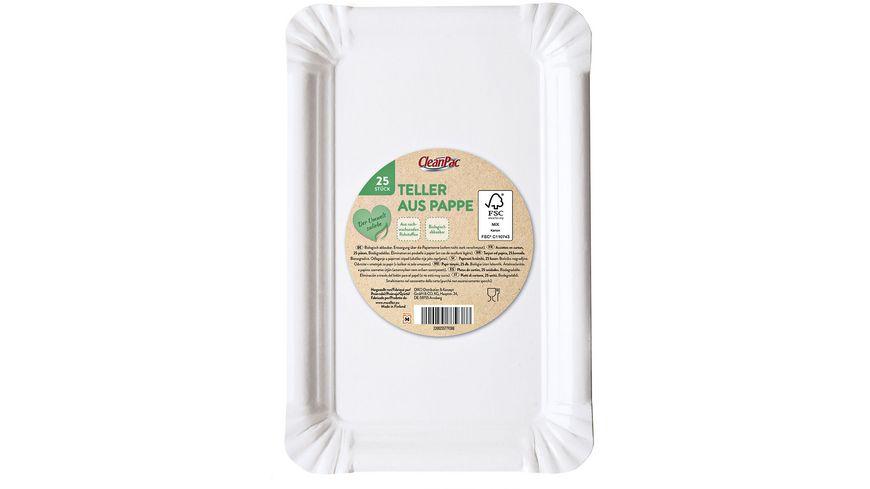 CleanPac Pappteller 13x20 cm