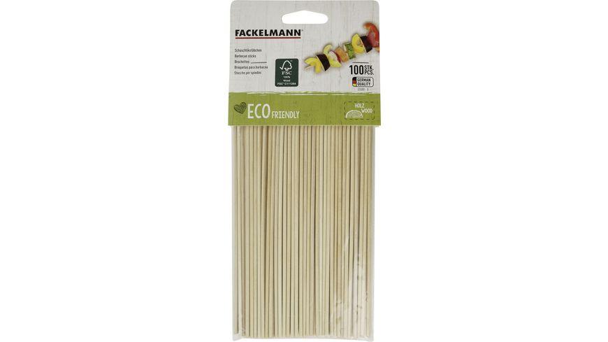 FACKELMANN Schaschlikspiesse FAIR Holz 20 cm