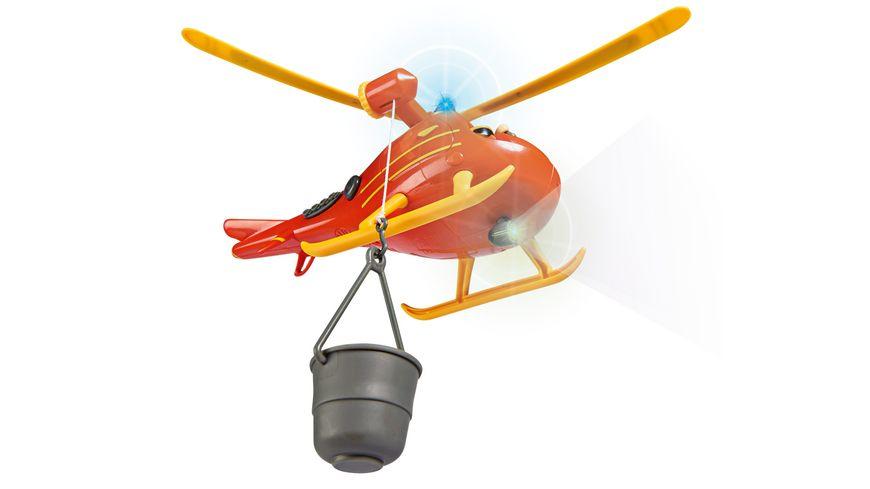 Simba Feuerwehrmann Sam Hubschrauber Wallaby mit Figur