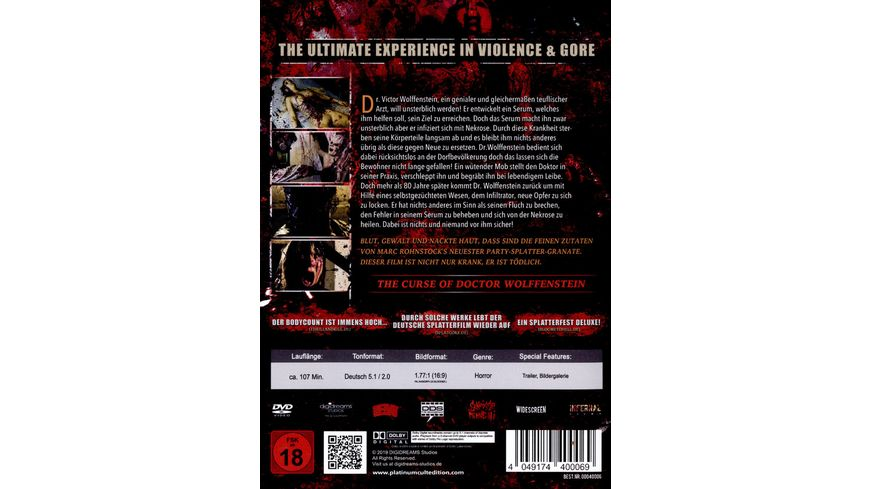 The Curse of Doctor Wolffenstein Cover A