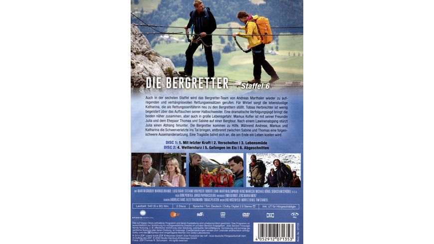 Die Bergretter Staffel 6 2 DVDs
