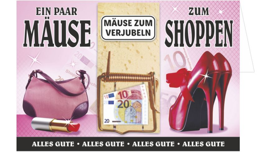 Mausefalle als Geldgeschenk - Mäuse zum Shoppen