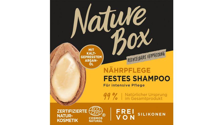 NATURE BOX Nährpflege Festes Shampoo Argan-Öl