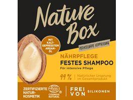 NATURE BOX Naehrpflege Festes Shampoo Argan Oel