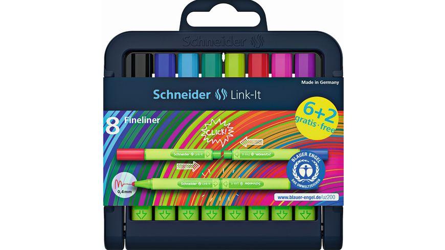Schneider Fineliner Link It 6 2er Etui