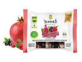 Yammbits Bio Fruchtkugeln galaktische Granatapfel Cassis Himbeere