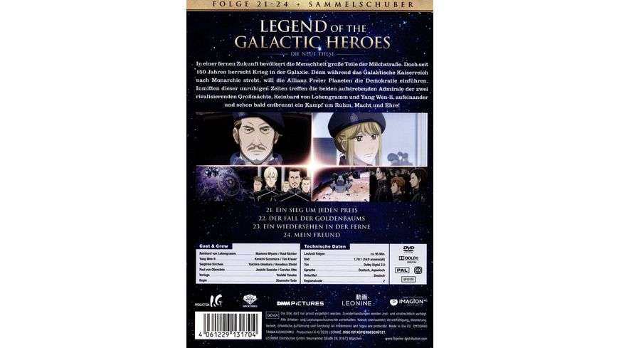 Legend of the Galactic Heroes Die Neue These Vol 6 Sammelschuber Limited Edition