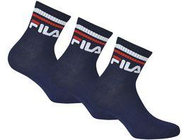 FILA Quarter Socken Unisex 3er Pack