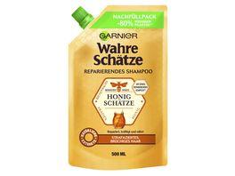 GARNIER Wahre Schaetze Reparierendes Shampoo Honig Schaetze Nachfuellpack