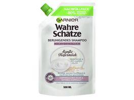 GARNIER Wahre Schaetze Beruhigendes Shampoo Sanfte Hafermilch Nachfuellpack